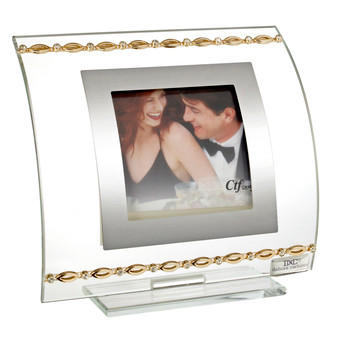 Picture Frame with Gold and Swarovski Links (Favor)