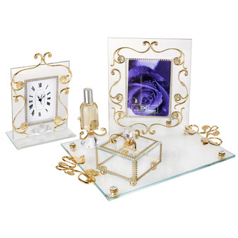 Italian 18kt Gold Plated 4 Piece Bedroom Vanity Set