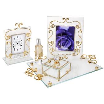 Italian 18kt Gold Plated 4 Piece Bedroom Vanity Set