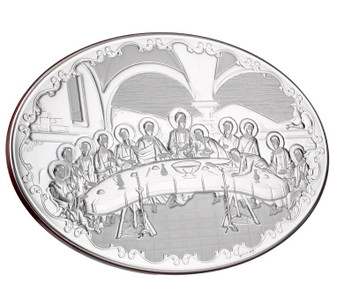 Italian 925 Silver argento Last Supper Plaque
