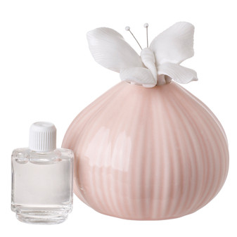 Decorative Diffuser with Butterfly Top Pastel Peach