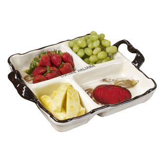 Ceramic 4 Section Divided Serving Dish