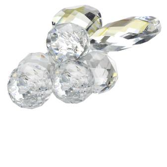 Italian Crystal Grapes Figurine Amber Highlights