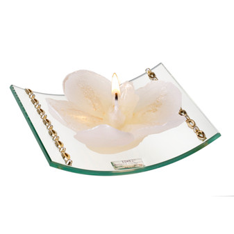 Curved Candle Holder Wedding  party gifts With Gold Bands