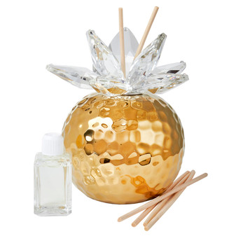 Italian Decorative Reed Diffuser Gold Hammered Finish