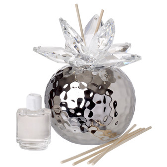 Italian Porcelain Reed Diffuser  Silver hammered
