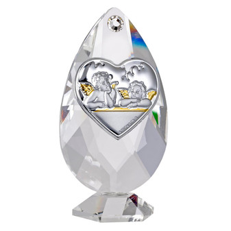 Guardian Angles Communion Chalice 925 Silver Crystal Base