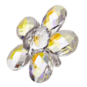 Guardian Angels Icon Crystal Star Shaped Argento
