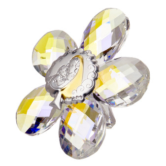 Mother and Child Icon Crystal Star Shaped Argento
