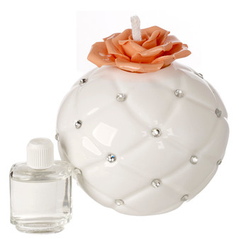 Italian Porcelain Decorative Aroma Diffuser, with Swarovski Accents
