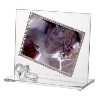 Baby Photo Frame w Swarovski Crystal Pacifier border