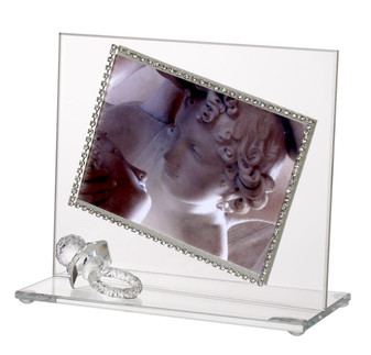 Baby Photo Frame w Swarovski Border Crystal Pacifier