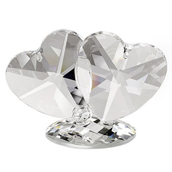Crystal Double Hearts figurine