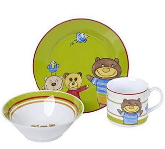 Children Dinnerware Set Porcelain Teddy Bear