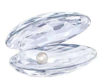 Crystal Clam Shell With Pearl (Favor)