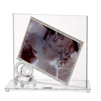 Baby Photo Frame w, Swarovski Crystal border & Crystal Stroller (Gift)