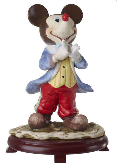 Mickey Mouse Porcelain Figurine on Wood Base