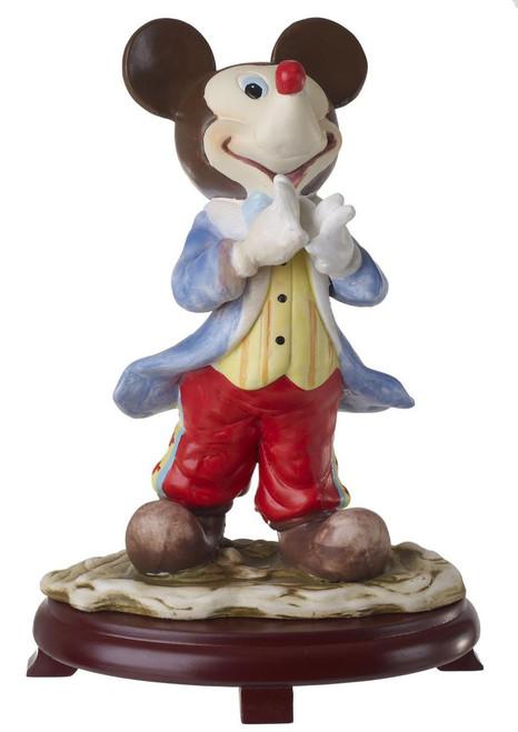 Mickey Mouse Porcelain Figurine on Wood Base