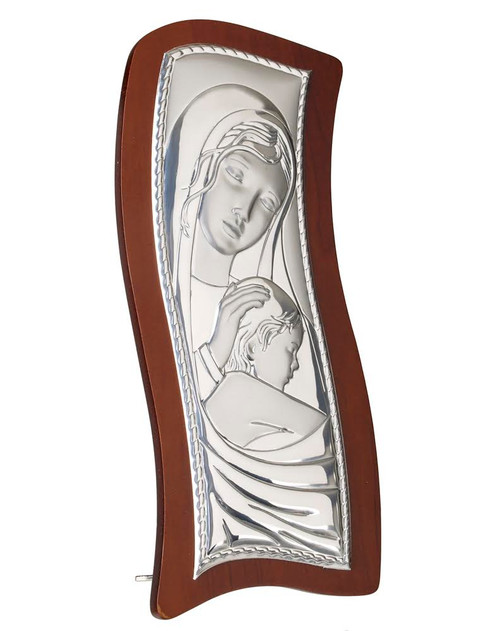 Italian 925 Silver Mother And Child Icon