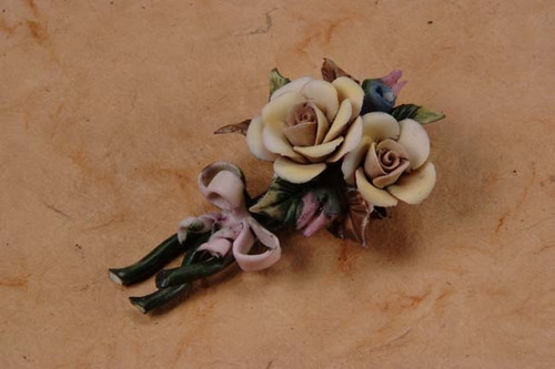 Porcelain Flower Pin Pin Min.24 pcs wedding party favors clearance