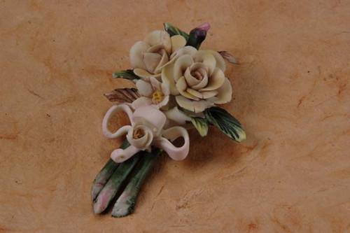 Porcelain Flower Pin Min.24 pcs wedding party favors clearance
