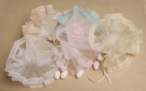 Lace Edge Netting 25 pcs bag wedding party favors sale