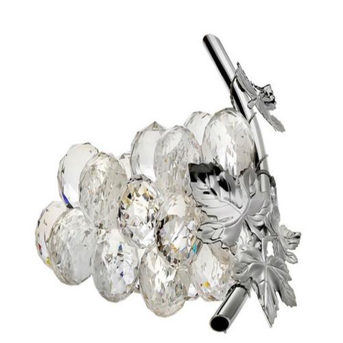 Italian Crystal Grapes 925 Silver Leaf Swarovski Crystal
