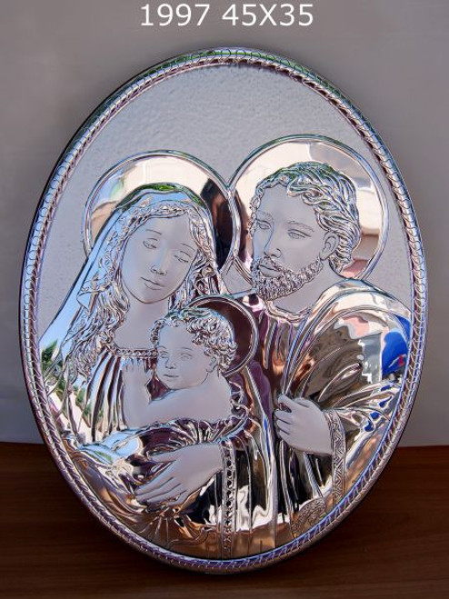 Sima Argenti Oval Holy Family 925 Silver religious wedding gifts