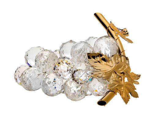 Italian Swarovski Crystal Grapes with18kt Plated Stem