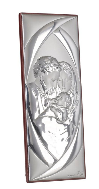 Italian Silver Holy Family Icon by Argento
