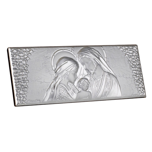 Silver Holy Family Religious Icon