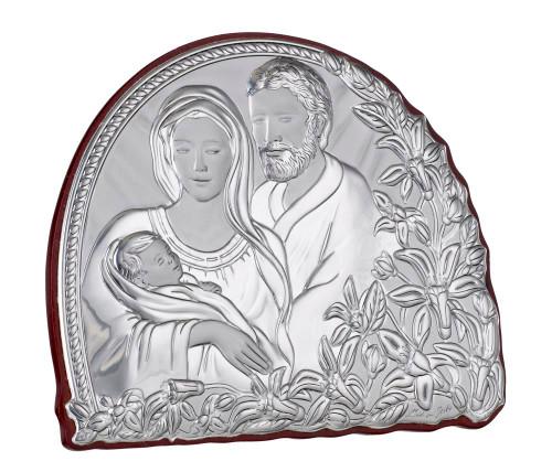Italian  Silver Holy Family Religious Icon