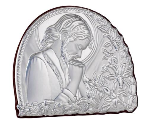Italian 925 Silver Praying Jesus Religious Icon