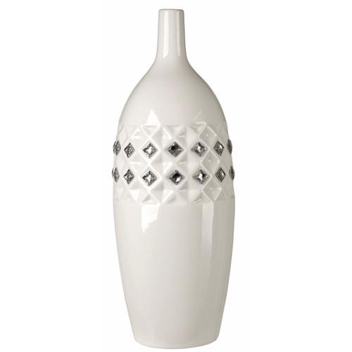 Porcelain Vase with Swarovski Crystals