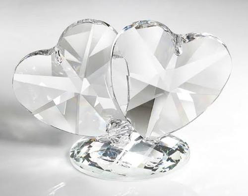 Italian 24% Crystal Double Hearts