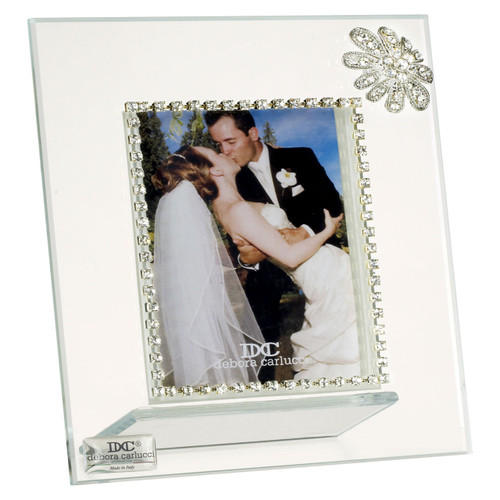 Italian Photo Frame With Swarovski Crystal Flower brooch