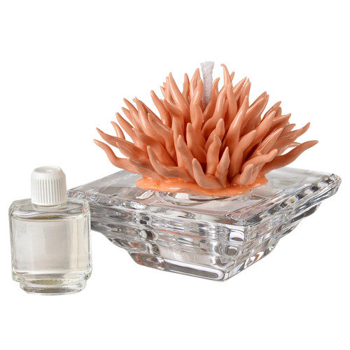 Italian Decorative Crystal Diffuser with Porcelain Coral Top
