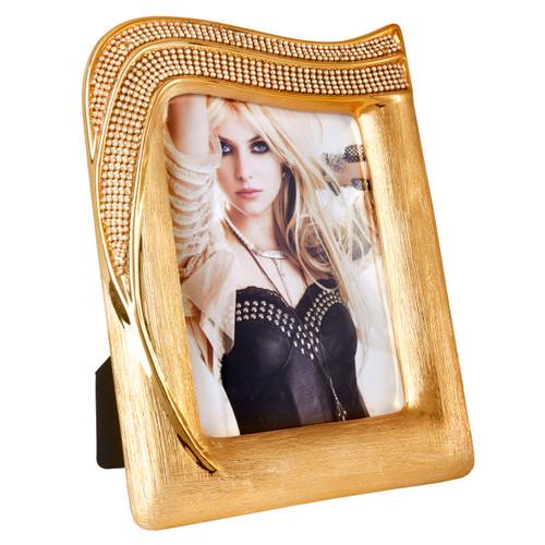 Decorative Picture frame Porcelain Gold with Swarovski Elements