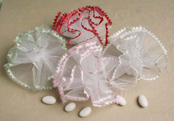 Small Heart Edge Tulle Variety  Of Colors Available wedding party favors clearance