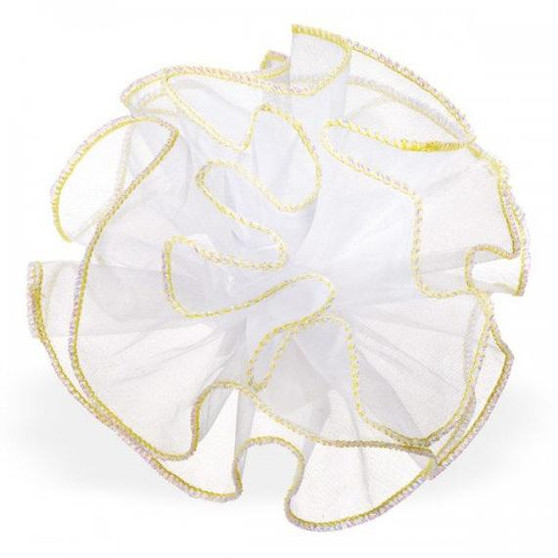 "Organza Iridescent Glitter Trim Netting Tulle 9"" 25 Pc 25"