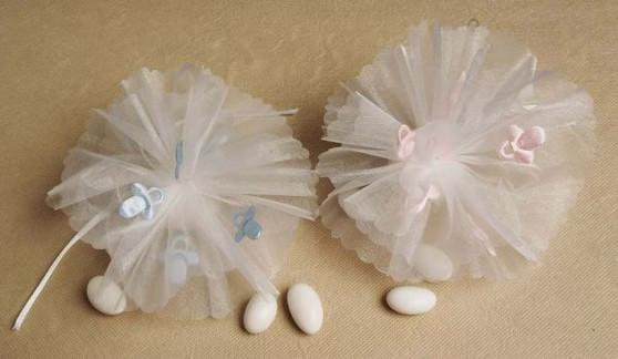 Pink / Blue Pacifier Netting 25 pcs bag wedding party favors sale