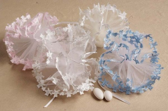 9in Teddy Bear Edge Tulle 25 pcs bag wedding party favors sale