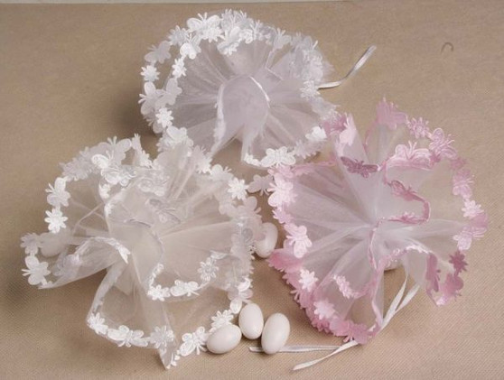 """Organza Netting Butterfly Edge Tulle 9"""" 25 Pc Scallop 25 pc Bag"""