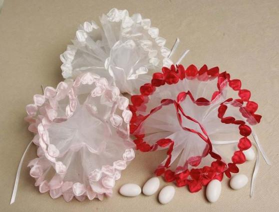 Large Heart Edge Netting 25 pcs bag religious wedding favors