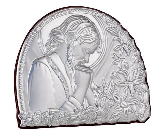 Jesus Christ 925  Sterling  Argento  Icon Plaque Italy
