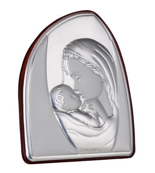 Silver Mother and child Icon