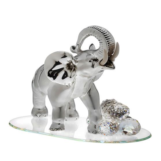 Elephant Sterling Silver with Swarovski Good Luck Figurine