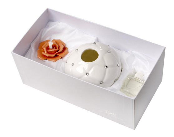 Italian Porcelain Decorative Aroma Diffuser Wedding Party Favors peach gift boxed