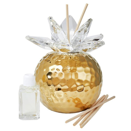 Decorative Aroma Diffuser Gold Crystal Lotus Top Wedding Favor