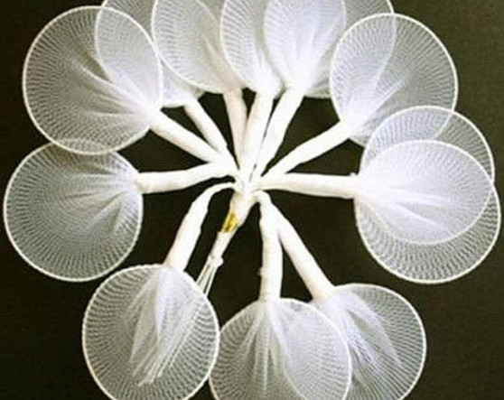 Confetti Pocket Nylon Leaves Ivory 144 pc wedding favors